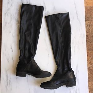 Over the knee. Leather BCBG boots